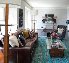 leather rug leather rug living room contemporary with blue rug brown leather couch crown molding glass top leather gy rugs
