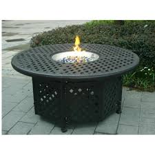 round gas fire pit table. GatherCraft Casa Grande Bronze Outdoor Cast Aluminum Round Chat Height Gas Fire Pit Table