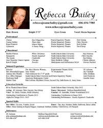 Acting Resume Is Always Free To Post Or Download At Talent Pages