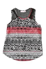 Pinc Premium Size Chart Pinc Premium Printed Crochet Back Tank Top Big Girls Nordstrom Rack