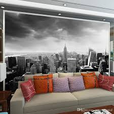 black white 3d wall mural night scenery new york city custom 3d photo mural for background living room architectural removable hd wallpapers hd wallpapers