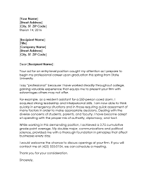 A Proper Cover Letters Examples Of Resume Cover Letter For College Students