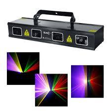 Disco Lights Big W New 4 Lens Rgbp 1 2w Laser Diode 7 Ch Dmx 512 Scanner Lights
