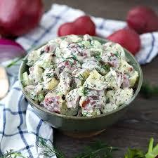 dill potato salad with mustard