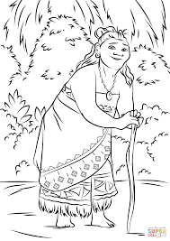 Gramma Tala From Moana Coloring Page Free Printable Coloring Pages
