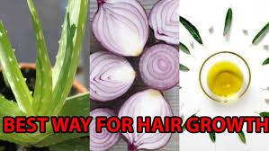 onion juice aloe vera castor oil