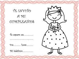 tarjetas de cumplea os para ni as con princesas para para invitar a fiestas de cumpleaños