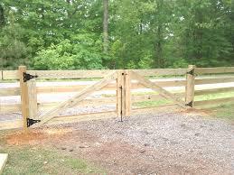 Hog Board Plank Farm Fence Double Gates By Rayco Fence Board Plank Farm Fence Double Gates Installed By Rayco Fu2026 Flickr