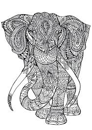 Coloring Pages Complex Complex Elephant Coloring Pages Book Coloring