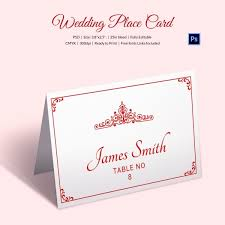 Dinner Name Card Template 25 Wedding Place Card Templates Free Premium Templates