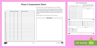 Check out our collection of printable phonics worksheets for kids. Phase 5 Phonics Letters And Sounds Assessment Sheets