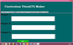Curriculum Vitae Generator Classy Curriculum Vitae Maker Amateurboyznet