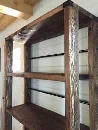 reclaimed wood rolling shelf