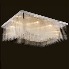 Schwarz Kristall Wohnzimmer Decke Lampe Platz Edelstahl Top Luxus