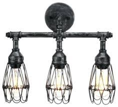 industrial bathroom vanity lighting. Industrial Bathroom Lighting 3 Bulb Light Fixture Vanity Plans Black E