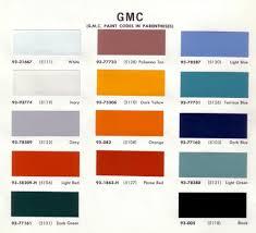 2013 Gm Color Chart Gm Free Download Printable Image Database