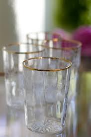 gold rim glassware vintage glass designs