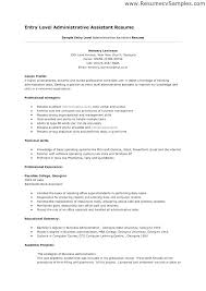 Educational Resume Template Simple Professional Clerical Resume Templates Administrative Sample Entry