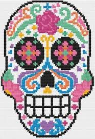 PDF Sugar Skull Dia de Los Muertos Cross Stitch Downloadable ... & PDF Sugar Skull Dia de Los Muertos Cross Stitch Downloadable Digital Pattern Adamdwight.com