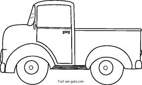 Small Picture Printable old ford pickup coloring pages Printable Coloring