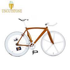 70mm rear and front wheel <b>Fixed Gear Bike Fixie</b> frame 53cm DIY ...