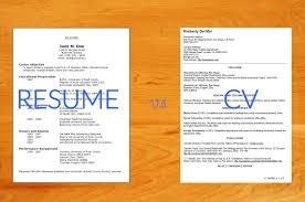 Resume V Cv Resume For Your Job Application