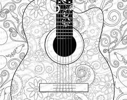 Small Picture Adult Coloring Page Printable Adult Guitar Coloring Poster