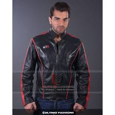 mass effect 3 n7 gaming black leather jacket