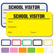 School Visitor Passes Book Visitors Label With Destination
