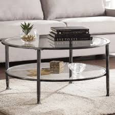 Casas Metal And Glass Round Coffee Table Images
