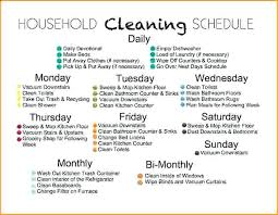 weekly house cleaning schedule uploaded by house cleaning schedule for maid