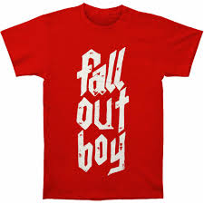 Fall Out Boy Merch Size Chart Us 7 7 Fall Out Boy Mens Metal Stack Slim Fit T Shirt Red High Quality Tee Shirt On Aliexpress