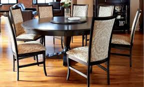 rustic round dining room sets. Round Dining Room Table Sets White Varnished Wooden Black Modern Chair Wood And Metal Cabinets Cream Fabric Area Carpet Gray Rustic