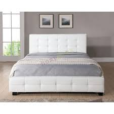 white queen size bed frame. White Queen Bed Frame Size Upholstered Leather .