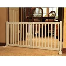 wood free standing freestanding wooden pet gate dog gates uk slide warm white