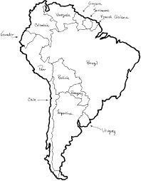 Coloring Map Of South America Pages N Blank Benneedham Info