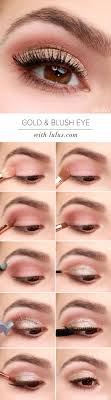 soft golden eye makeup tutorial via