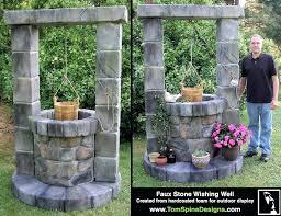 decorative outdoor wishing wells foam wishing well custom sculpture outdoor decor tom garden idea decorative wooden