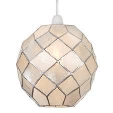 capiz ball easy fit pendant light shade