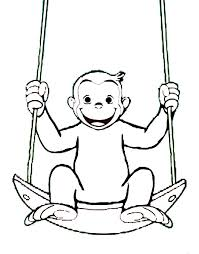 Stampa Disegno Di George Scimmia Da Colorare