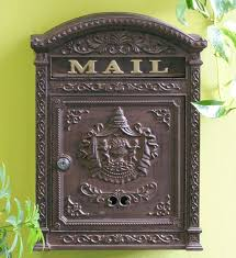 e6 victorian locking wall mount mailbox
