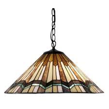 warehouse of tiffany arrow head 2 light brown hanging lamp