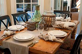 Simple Dinner Table Setting Amazing Casual Kitchen Table