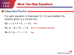 more two step equations