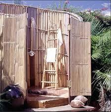diy outdoor shower bamboo outdoor shower with ladder towel rack and stone floor diy outdoor shower diy outdoor shower