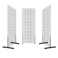 Wire Grid Display Stands 100 x 100 Gridwall Display Racks Two Sided Subastral 2