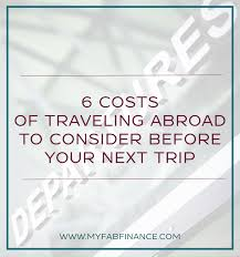 6 Unexpected Travel Expenses To Consider My Fab Finance