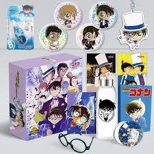 Hộp quà anime Conan Movie 23 bìa tím có bookmark postcard huy hiệu ảnh dán  ảnh thẻ poster tặng ảnh thiết kế Vcone
