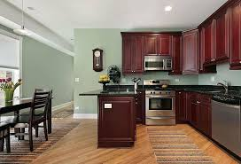 kitchen white kitchen cabinets green walls beige smooth rock countertop sleek turquoise granite wooden circular