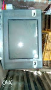 sony wega crt tv. show only image. gray crt tv sony wega